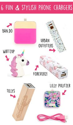 Loving all these stylish and portable phone chargers for school!