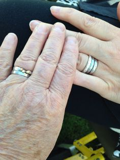 They may be a wee bit wrinkled but these hands are together always (Gerrie and Susan in their wedding day )