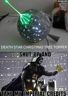 Funny pictures about Star Wars Christmas Tree Topper. Oh, and cool pics about Star Wars Christmas Tree Topper. Also, Star Wars Christmas Tree Topper photos. Star Wars Trivia, Star Wars Jokes, Star Wars Facts, Funny Christmas Pictures, Funny Pictures, Funny Videos, Star Wars Weihnachten, Christmas Tree Star Topper, Christmas Star