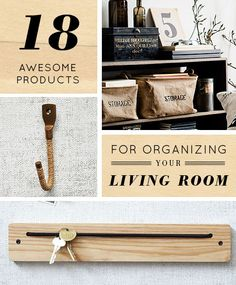 18 Awesome Products for Living Room Organization