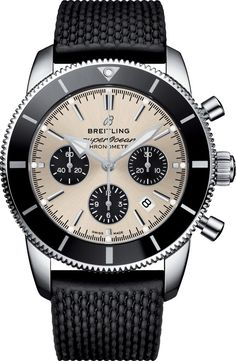 Breitling Watch Superocean Heritage II B01 Chronograph 44 #add-content #basel-18 #bezel-unidirectional #bracelet-strap-rubber #brand-breitling #case-depth-15-5mm #case-material-steel #case-width-44mm #chronograph-yes #cosc-yes #date-yes #delivery-timescale-call-us #dial-colour-silver #gender-mens #luxury #movement-automatic #new-product-yes #official-stockist-for-breitling-watches #packaging-breitling-watch-packaging #style-dress #subcat-superocean #supplier-model-no-ab0162121g1s1