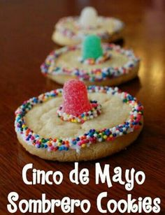 Cinco de Mayo Sombrero Cookies! Mexican Hat Cookies!