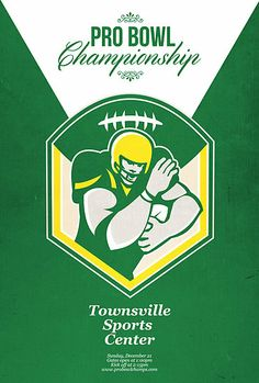 American Gridiron Pro Championship Poster by patrimonio