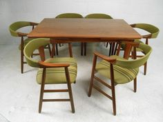 set of six danish modern dining chairs in the style of kai kristiansen