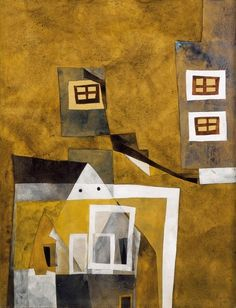 Floating Houses, 1937 by Vajda Lajos. Floating House, Living Environment, Art Database, Art Abstrait, Environmental Art, Show Photos, Cubism, All Art, Art Lessons