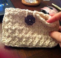 Little crochet clutch out of 100% cotton.