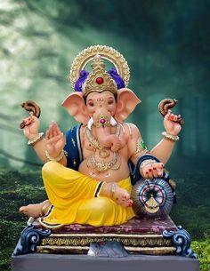 Make this Ganesha Chathurthi 2020 special with rituals and ceremonies. Lord Ganesha is a powerful god that removes Hurdles, grants Wealth, Knowledge & Wisdom. Jai Ganesh, Ganesh Lord, Ganesh Idol, Ganesh Statue, Shree Ganesh, Lord Shiva, Shri Ganesh Images, Ganesha Pictures, Ganesh Bhagwan