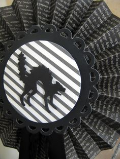 Halloween rosettes dressed up with Lifestyle Crafts dies. #halloween