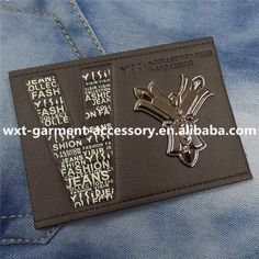 L- 142 Embossed Leather Patch,Leather Label For Denim,Fashion Design Leather…