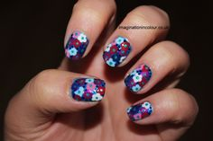 Google Image Result for http://imaginationincolour.co.uk/wp-content/uploads/2012/11/Flowers-nail-art-floral-blue-pink-purple-white-dotted-inspired-dress-retro-summery-impress-nails-design-spring-summer-30-days-untrieds-challenge-Barry-M-Barielle-Sally-Hansen-Marks-and-Spencer-Revlon-UK-blog.jpg