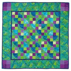Purple and Kelly Green quilt from Tammy Kelly