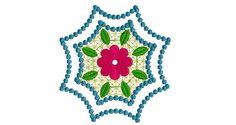 4X4 Ornament Embroidery Design 005