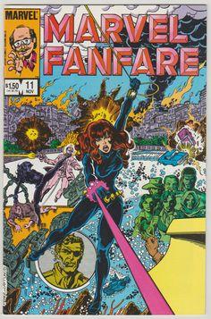 Marvel Fanfare Vol 1 11 Bronze Age Comic by RubbersuitStudios #marvelfanfare #blackwidow #comicsforsale