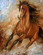 Horse1 by Arthur Braginsky, uses texture to show the muscles and strength of the horse in the painting.