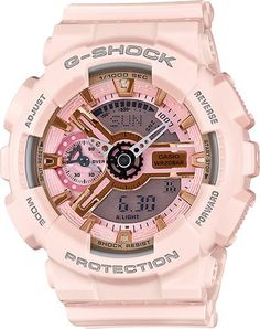 6942c89f3ec Casio G-Shock Gold and Pink Dial Pink Resin Quartz Ladies Watch casio watch  for women