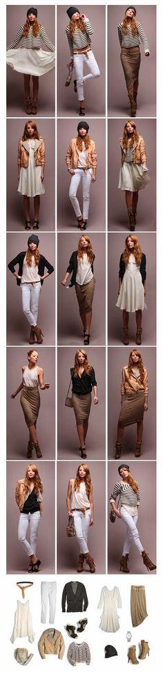 pre-spring minimalist 5 piece french capsule wardrobe: Solo Girl Squad