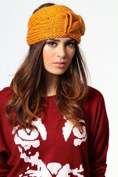 Madison Bow Knitted Headband