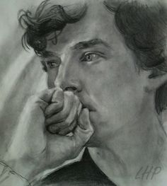 """""""Sherlock is a girl's name"""" by lovelyhudderpudder Amusing artist note: """"Benedict, you have huge hands. It took me forever to get that fist big enough. Sherlock Holmes Benedict, Sherlock John, Benedict Cumberbatch, Art Is Dead, Rupert Graves, Wow Art, Martin Freeman, Baker Street, Doctor Strange"""