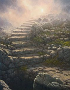 """""""Stairway To Heaven"""" - Art by Tomasz Alen Kopera Stairway To Heaven, Art Heaven, Fantasy World, Fantasy Art, Fantasy Places, Art Visionnaire, Heaven Tattoos, Somewhere In Time, Fantasy Setting"""