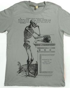 Men's Shirt - Skeleton T-shirt - Skull Tshirt - graphic tee