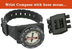 Wrist Compass with hose mount Waterproof Underwater for Snuba Diving Camping Hiking Climbing other outdoor recreation sports. Waterproof compass with wrist strap and hose mount; designed for scuba diving (depths of 260-feet) good for other outdoor recreation sports too, especially water sports. Compass with enhanced magnet strength, quick response and smooth card movement! This unique, high performance liquid filled compass is designed with enhanced magnet strength which provides...