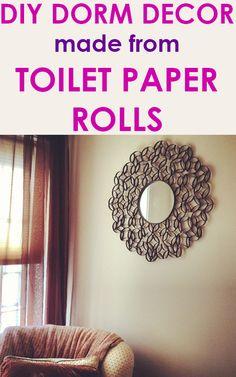 Make Dorm Wall Art From Toilet Paper Rolls
