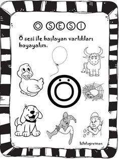 ö sesi, okul öncesi, çalışma sayfaları Learn Turkish, Preschool Activities, Montessori, Crafts For Kids, Drama, Snoopy, Success, Teaching, Words