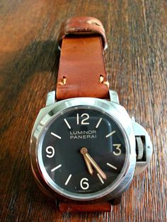 1965 Swiss Ammo Pouch Mens Leather Watch Strap by McGuiresLeather, $125.00