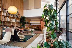 A casa, de 1949, onde viveram os designers Charles e Ray Eames.