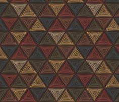 triangles fabric by glimmericks on Spoonflower - custom fabric