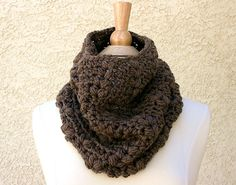 DOWNTOWN WOODLANDS COWL - Extremely Soft and Luxurious 100% Merino Cowl - COLOR: Taupe - Colors available: Caramel, Brown Bear, Taupe, Blue, Black, Orange, Cream