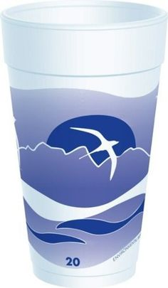 """Dart 20J16H 20 oz Capacity, 6.1"""" Height, Horizon Stock Printed Blueberry Foam Cup (20 Packs of 25) by Dart. $55.00. Horizon's design adds a touch of color to any beverage service, while providing an economical alternative to custom print. Suited for hot or cold beverages, horizon foam cups are color coded by size in attractive, contemporary colors. Lid interchange between the most popular sizes allows you to simplify your operation and minimize inventory requiremen..."""