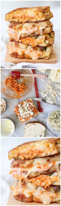 Buffalo Chicken Grilled Cheese Sandwich #recipe #comfortfood