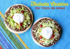 Tostada Cookies {for Cinco de Mayo} by Munchkin Munchies.