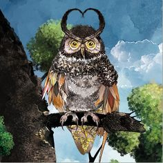 Owl Creating A Brand, Enchanted, Owl, Illustration, Prints, Animals, Animales, Animaux, Owls