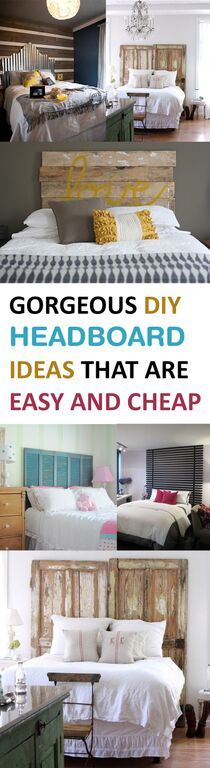 Gorgeous DIY Headboard Ideas that are Easy and Cheap