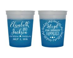 Wedding Cups Color Changing Cups July 4th Party Favors Anniversary Cups 4th of July Cups Fun Party Favors Mood Cups Fun Cups 1482 by SipHipHooray