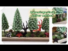 Weihnachtsdeko / Adventsgesteck selber machen / Tannenbaum Adventskerzen...