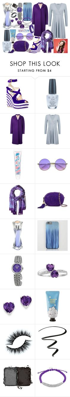"""""""Choi Sulli #2"""" by quinn-avina ❤ liked on Polyvore featuring Brian Atwood, OPI, N°21, Boohoo, claire's, ZeroUV, Vera Bradley, Chanel, Lancôme and Versus"""