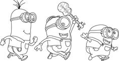 Minion Coloring Pages Bob Archives Best Of Minions Page