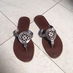 ✨SALE✨ Metallic Sandals from Target Worn just a few times and still in excellent condition! Super cute - I just never wear them anymore. Faded Glory Shoes Sandals
