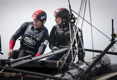 "Land Rover BAR on Twitter: ""Flying high - The Duchess of Cambridge @KensingtonRoyal takes the helm from @AinslieBen for a blast on the Solent"