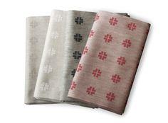 Växbo Lin. Hälsingeros Tablecloth. 100% linen. Really made in Sweden.