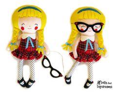 Schoolgirl Sewing Pattern PDF Removable Doll by DollsAndDaydreams