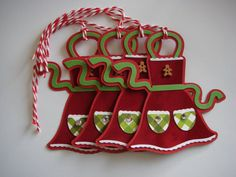 Christmas Gift Tag Cookie Exchange Gift by CraftyClippingsbyPeg