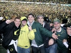 One of the greatest days our lives! #Autzen was pure pandemonium! Any guesses which game this is...? #OregonDucks #GoDucks #Ducks #WTD #football #UofO
