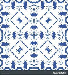 Ethnic ceramic tile in portuguese azulejo. Pillow Texture, Vintage Ornaments, Minimal Design, Vector Pattern, Watercolor Illustration, Textures Patterns, Portuguese, Ceramics, Wallpaper