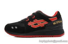 Men's Asics Gel Lyte III Sneaker Black Red|only US$95.00 - follow me to pick up couopons.