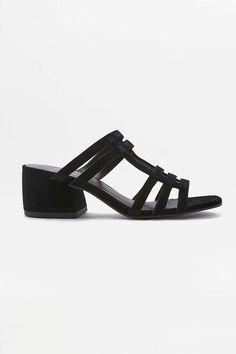 Vagabond Saide Black Net Mule Heels - Urban Outfitters