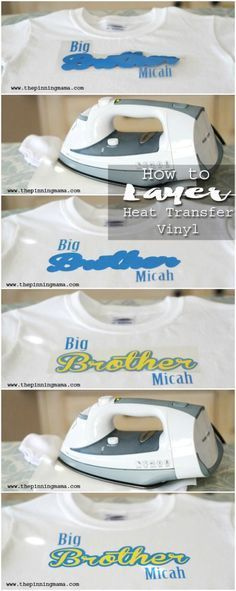 Layering Heat Transfer Vinyl to make multi color designs with your Silhouette of Cricut! Layering Heat Transfer Vinyl to make multi color designs with your Silhouette of Cricut! Silhouette Curio, Silhouette Vinyl, Silhouette Cameo Projects, Silhouette Machine, Silhouette School, Circuit Projects, Vinyl Projects, Shilouette Cameo, Silhouette Designer Edition